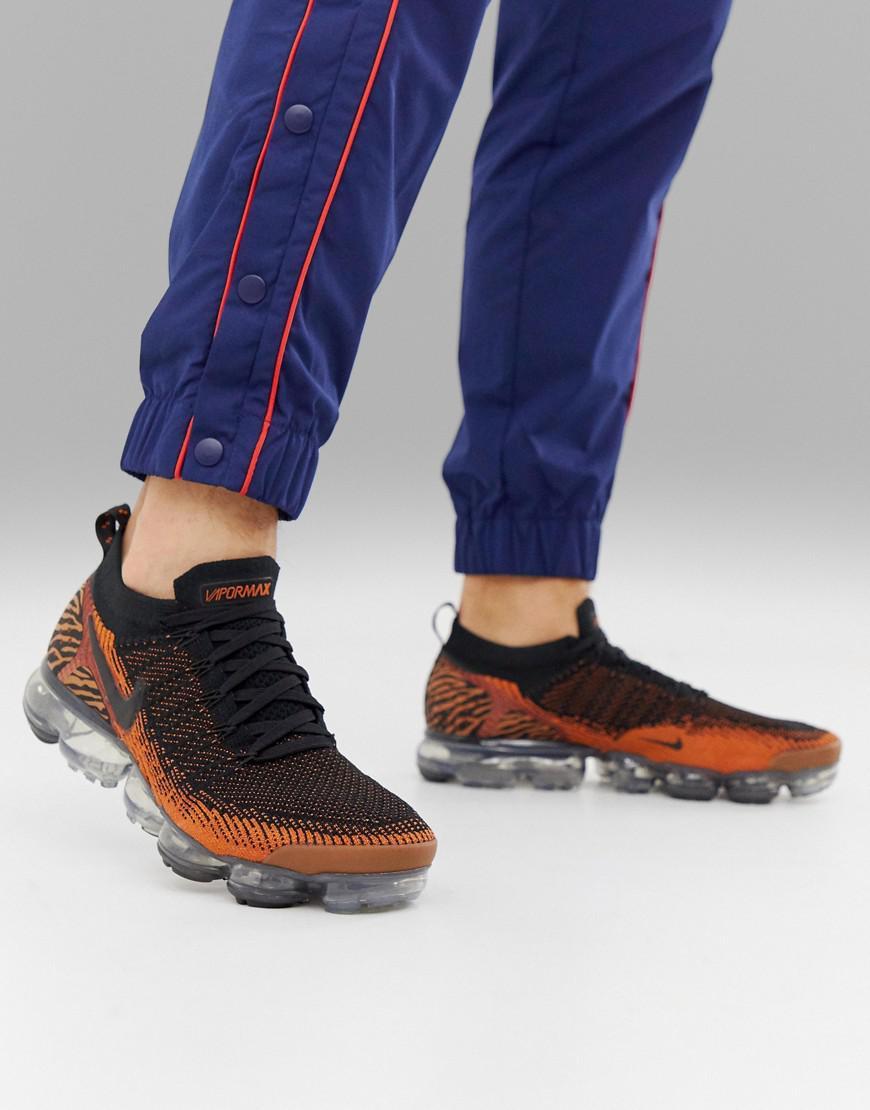 52be4e97f0 Nike Vapormax Safari Tiger Trainers In Black in Black for Men - Lyst