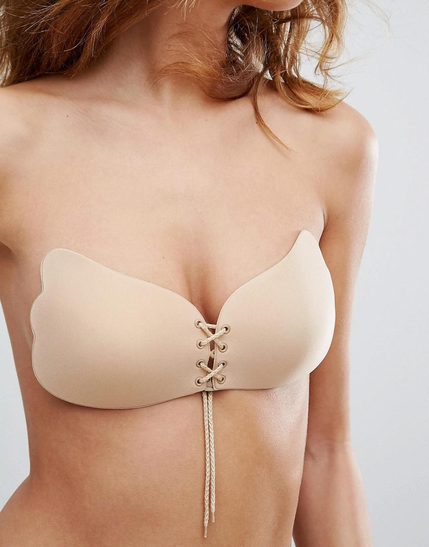 Outlet Store For Sale Original Online DESIGN lace up cleavage boost backless stick on bra - Beige Asos Clearance Store For Sale ZmolXT