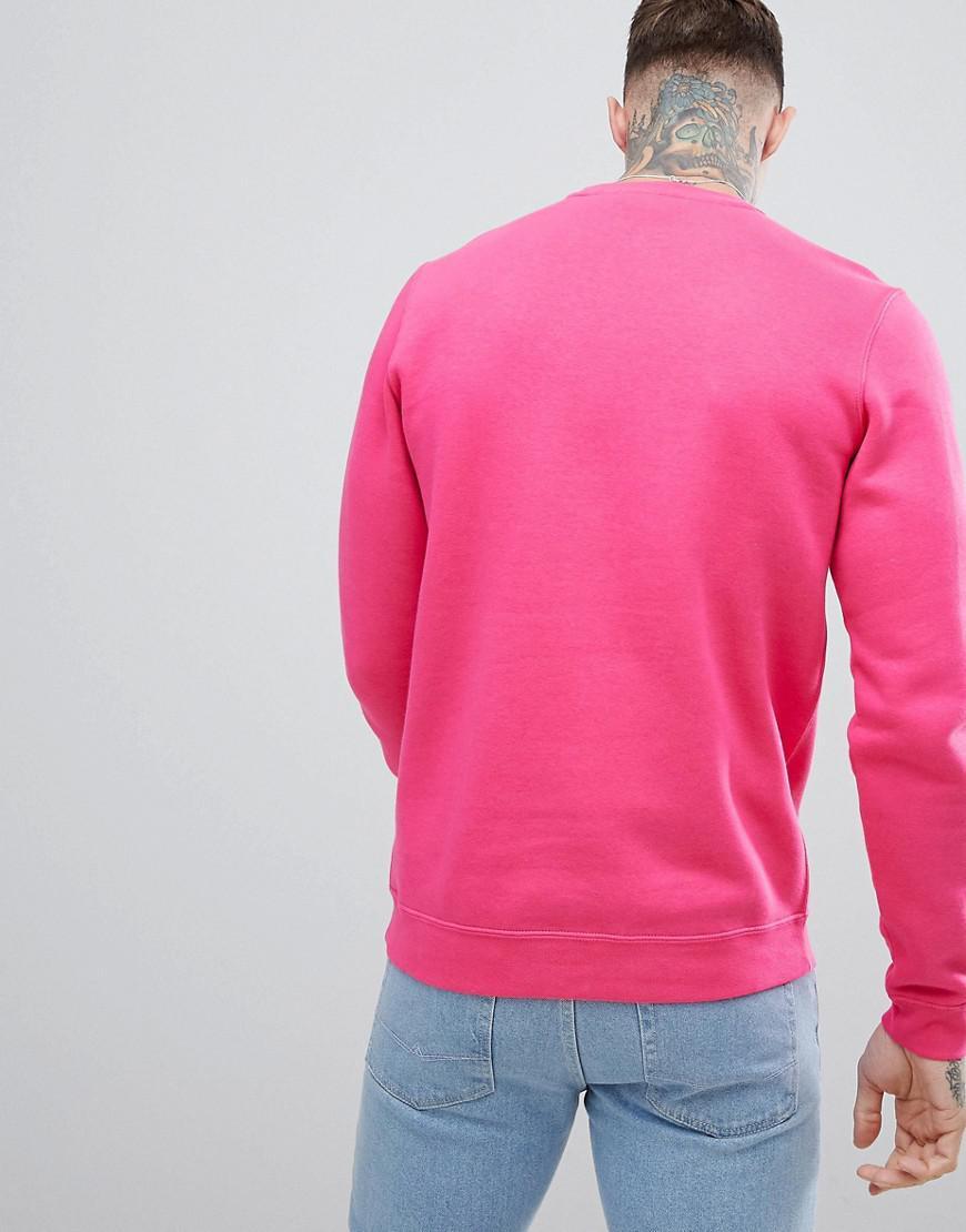 0d84bf588998 Nike club swoosh sweatshirt in pink in pink for men lyst jpg 870x1110 Pink  nike sweatshirt