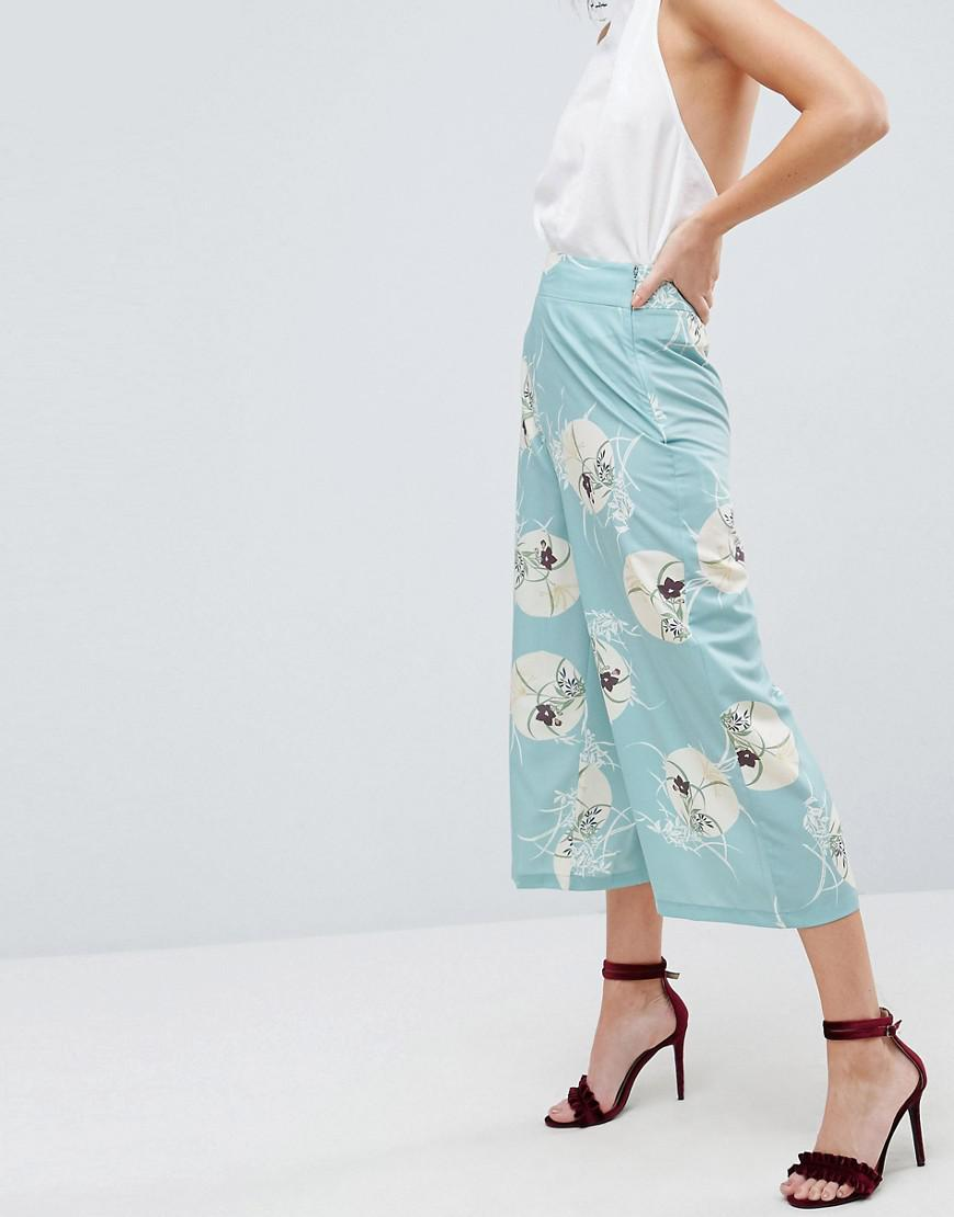 Soft Tailored Culottes in Floral Print - Floral Asos JhViAR
