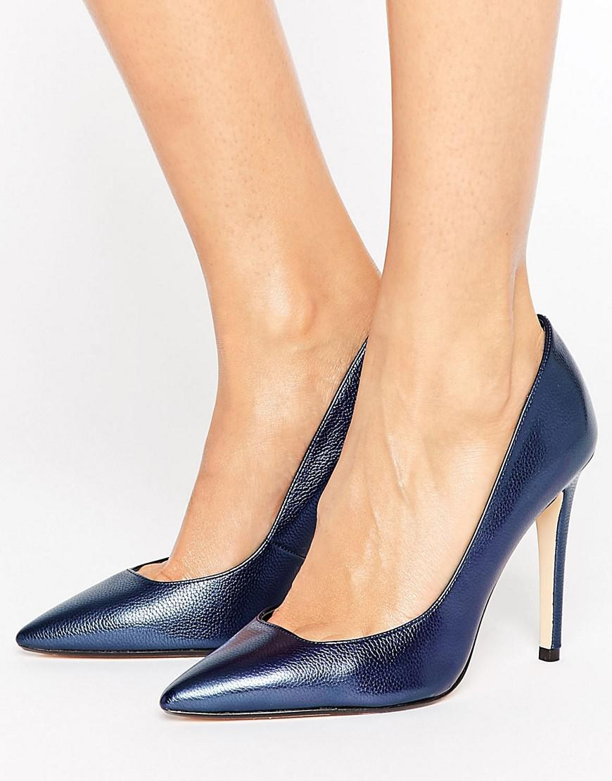 684f7046020 Lyst - Dune Pointed Toe High Heel Court Shoe in Blue
