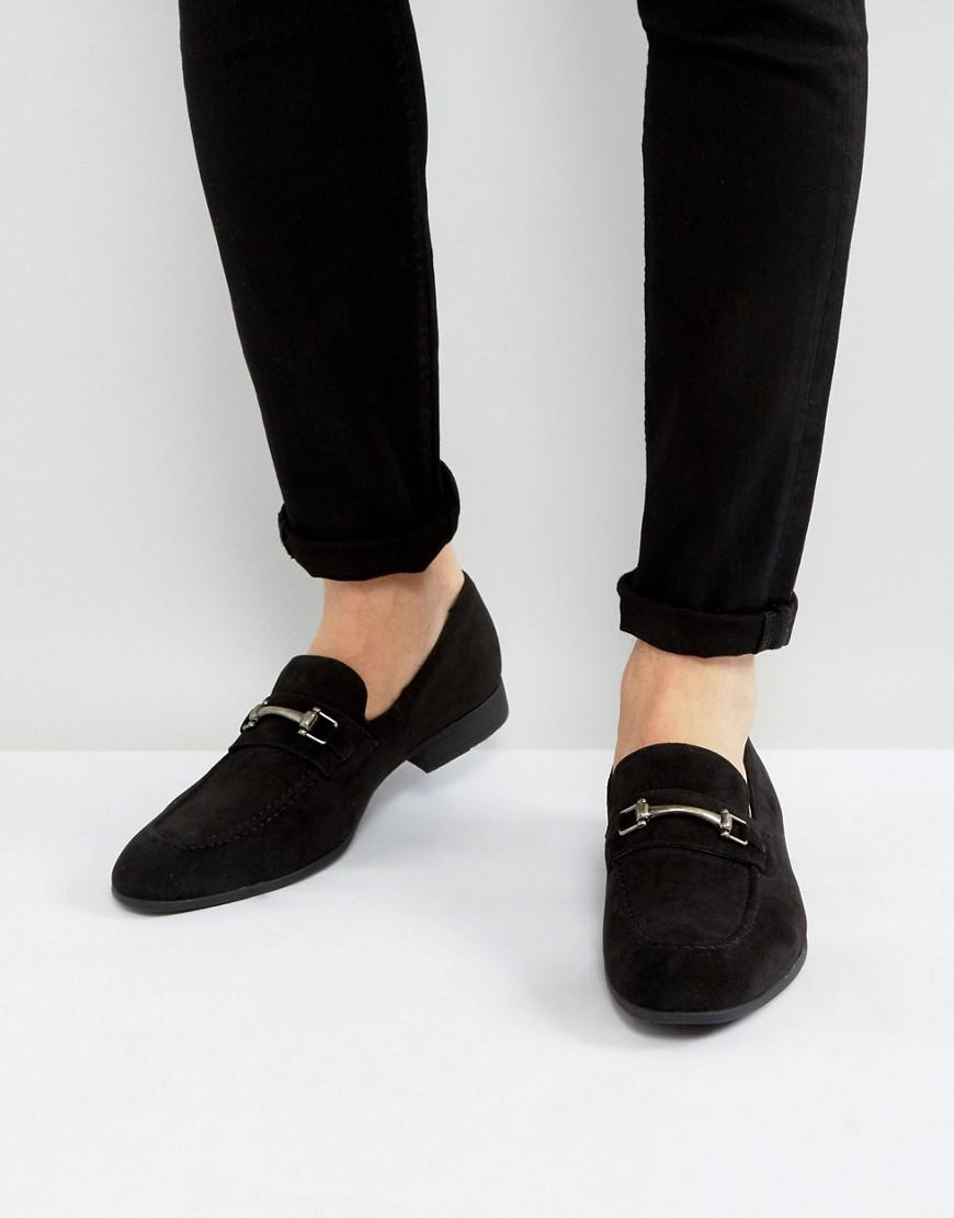 sast online amazon sale online ASOS Loafers In Black Faux Suede With Snaffle Detail from china sale online o7IgU