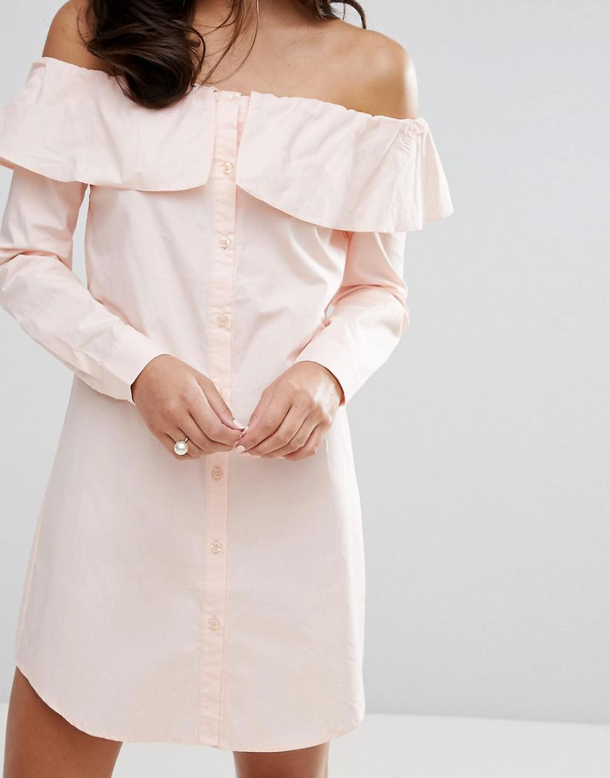 e44abb86c879 Gallery. Previously sold at  ASOS · Women s Off The Shoulder Dresses  Women s Shirt Dresses Women s White ...