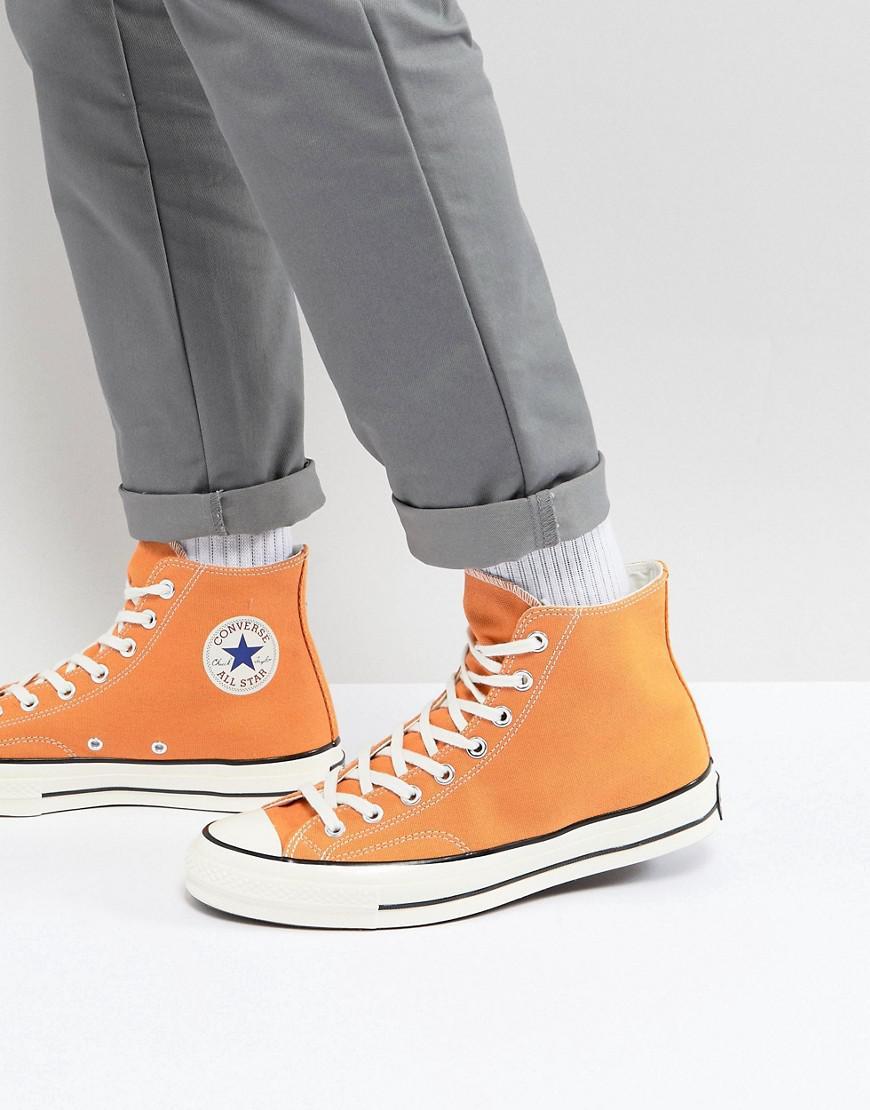 f42446ab9103 Converse Chuck Taylor All Star 70 Hi Plimsolls In Orange 159622c in ...