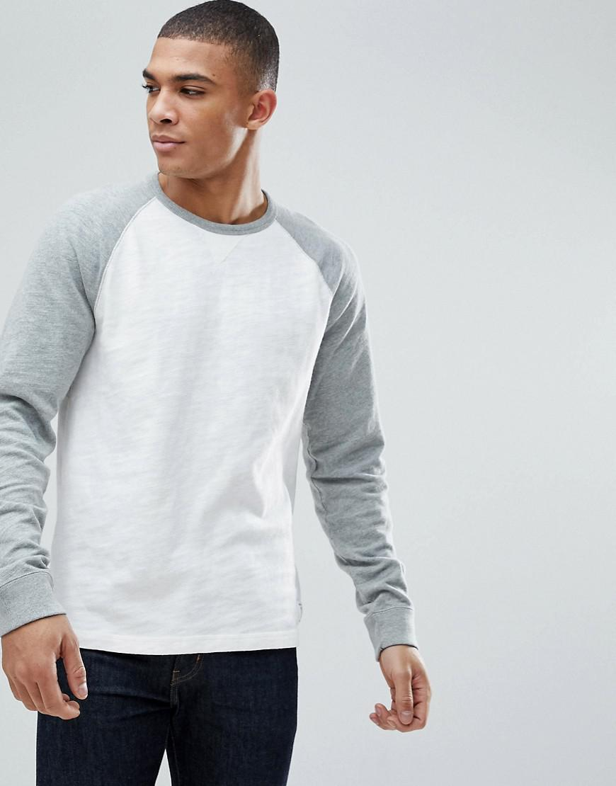 c9b0630d Lyst - Abercrombie & Fitch Long Sleeve Baseball Top Contrast Sleeve ...