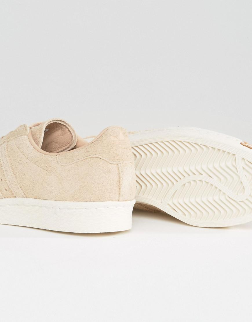 new arrivals 882de 0f9a0 adidas Originals Nude Superstar 80s Sneakers With Cork Toe Cap in ...