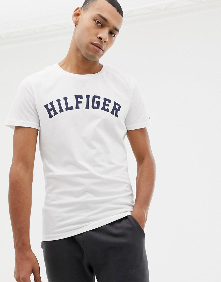ae200ed2f2bdc4 Tommy Hilfiger Logo Crew T-shirt White in White for Men - Lyst