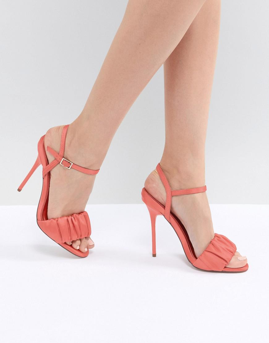23b3ff2d11c Lyst - ASOS History Heeled Sandals in Pink