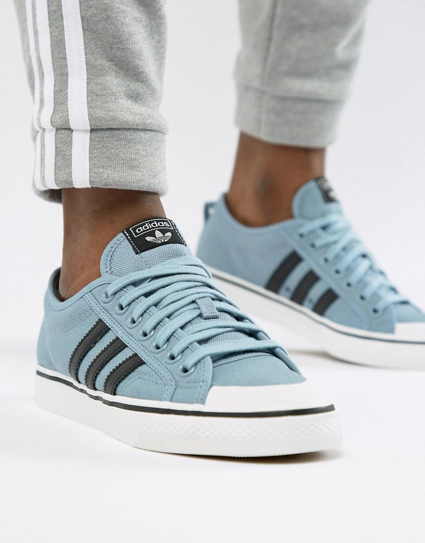 finest selection df3b2 2c8bc adidas Originals Nizza Unisex Sneakers in Blue for Men - Lyst