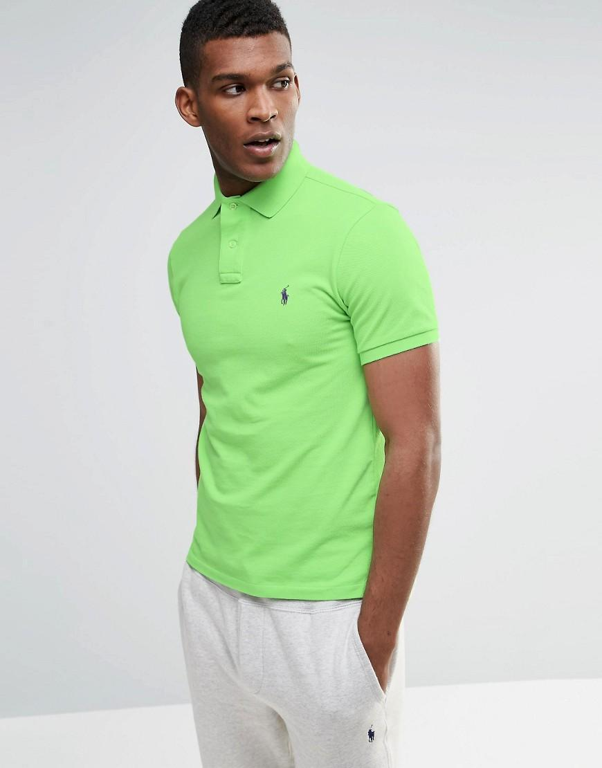 Polo Ralph Lauren Polo Shirt In Slim Fit Green In Green