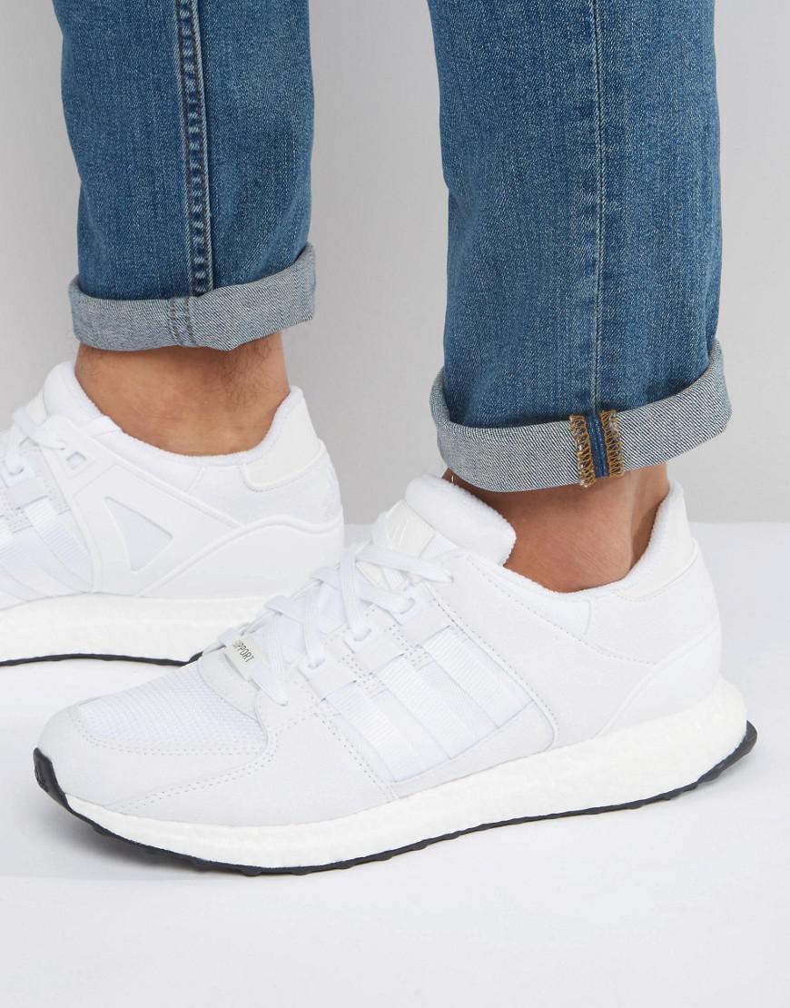 lyst adidas originali eqt sostegno 93 / 16 scarpe bianche s79921