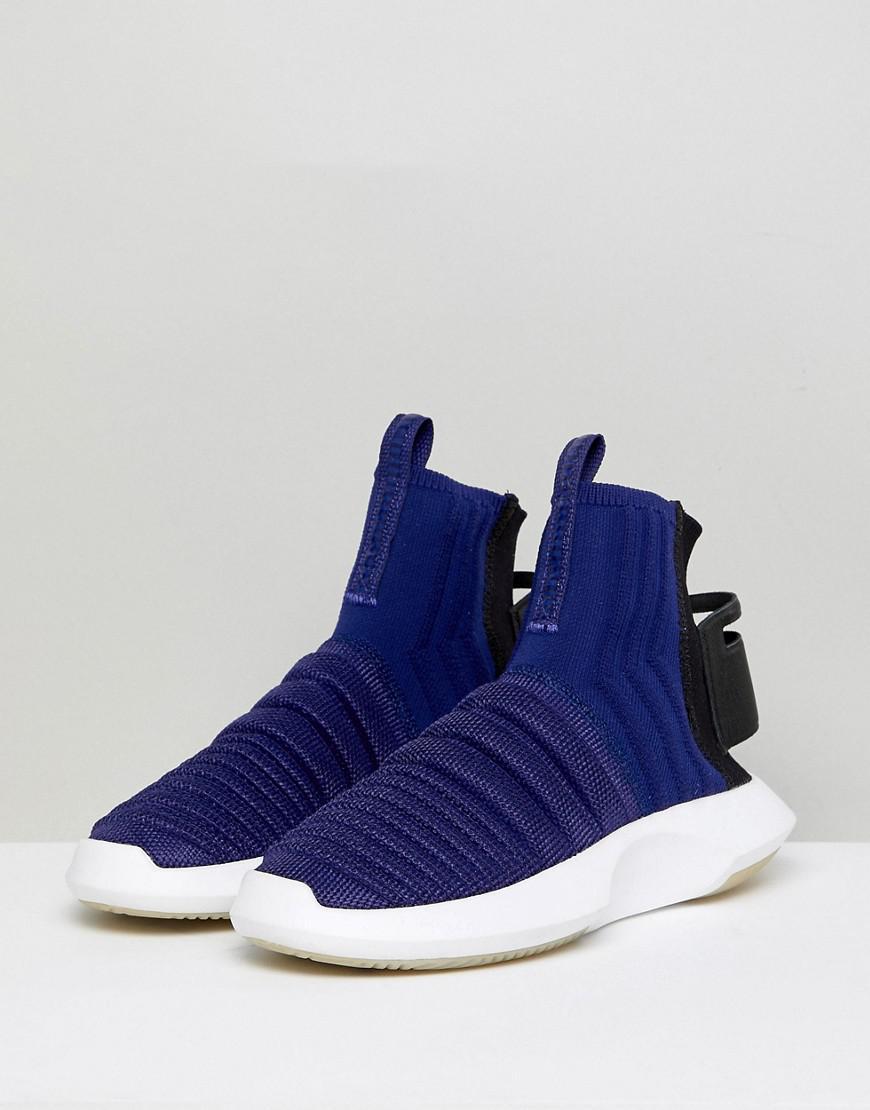 online store 1d3f8 1b463 Lyst - adidas Originals Crazy 1 Adv Sock Primeknit Sneakers In Blue in Black
