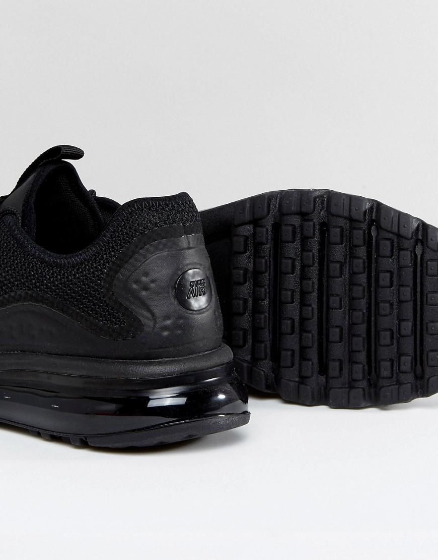 f762f4788f8fb Nike Air Max More Trainers In Black 898013-002 in Black for Men - Lyst