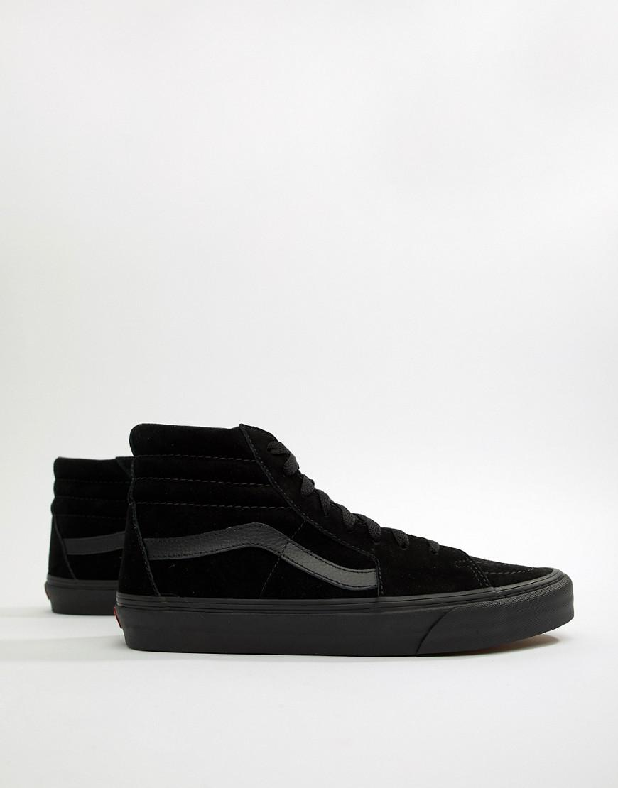 ea9b0de88e Vans Sk8-hi Suede Trainers In Black Vd5ibka in Black for Men - Lyst