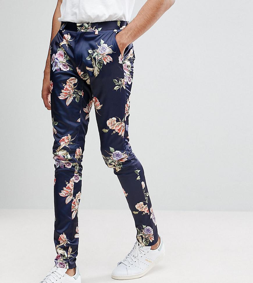Conception De Haut Pantalon Super Skinny À Imprimé Floral Lumineux - Asos Marine 0rAcqY5kH9