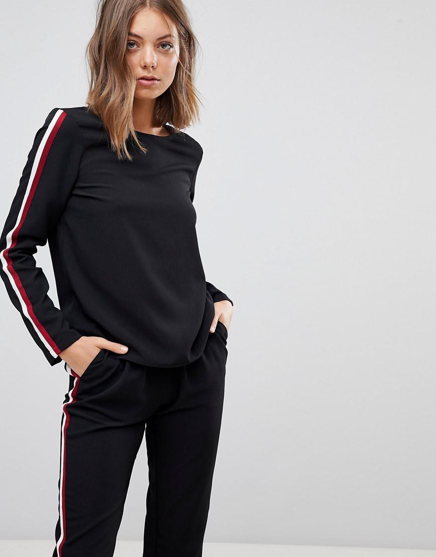 Stripe Detail Sweatshirt - Black Vero Moda For Sale Online MxBCCvlxqb