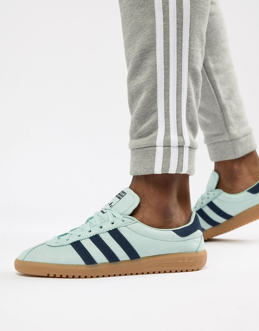 Lyst - adidas Originals Bermuda Sneakers In Green Cq2783 in Green ... 91fb2e61f21dd