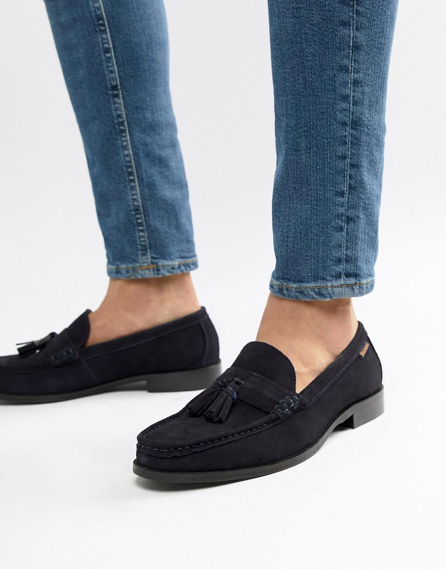 bdadec3d7341 Ben Sherman Loafers Tassel Loafers In Navy Suede in Blue for Men - Lyst