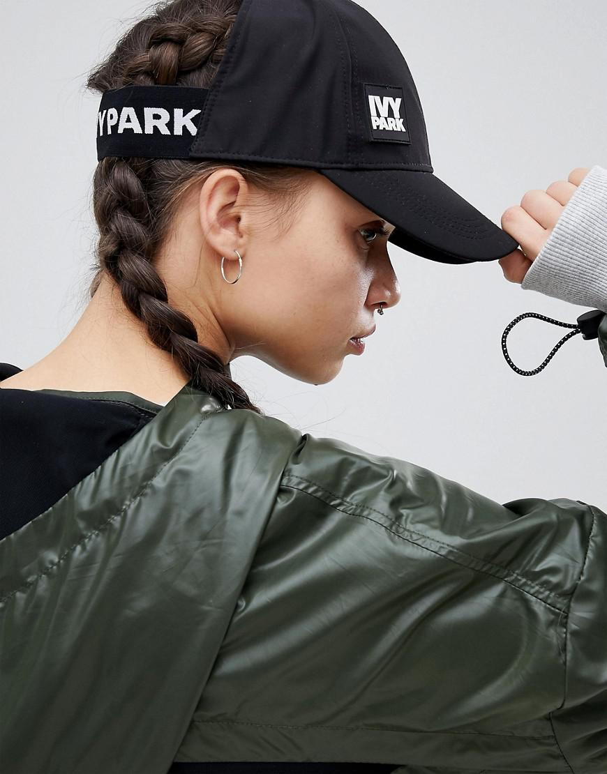 beaaa7c1c3c Ivy Park Backless Cap in Black - Lyst