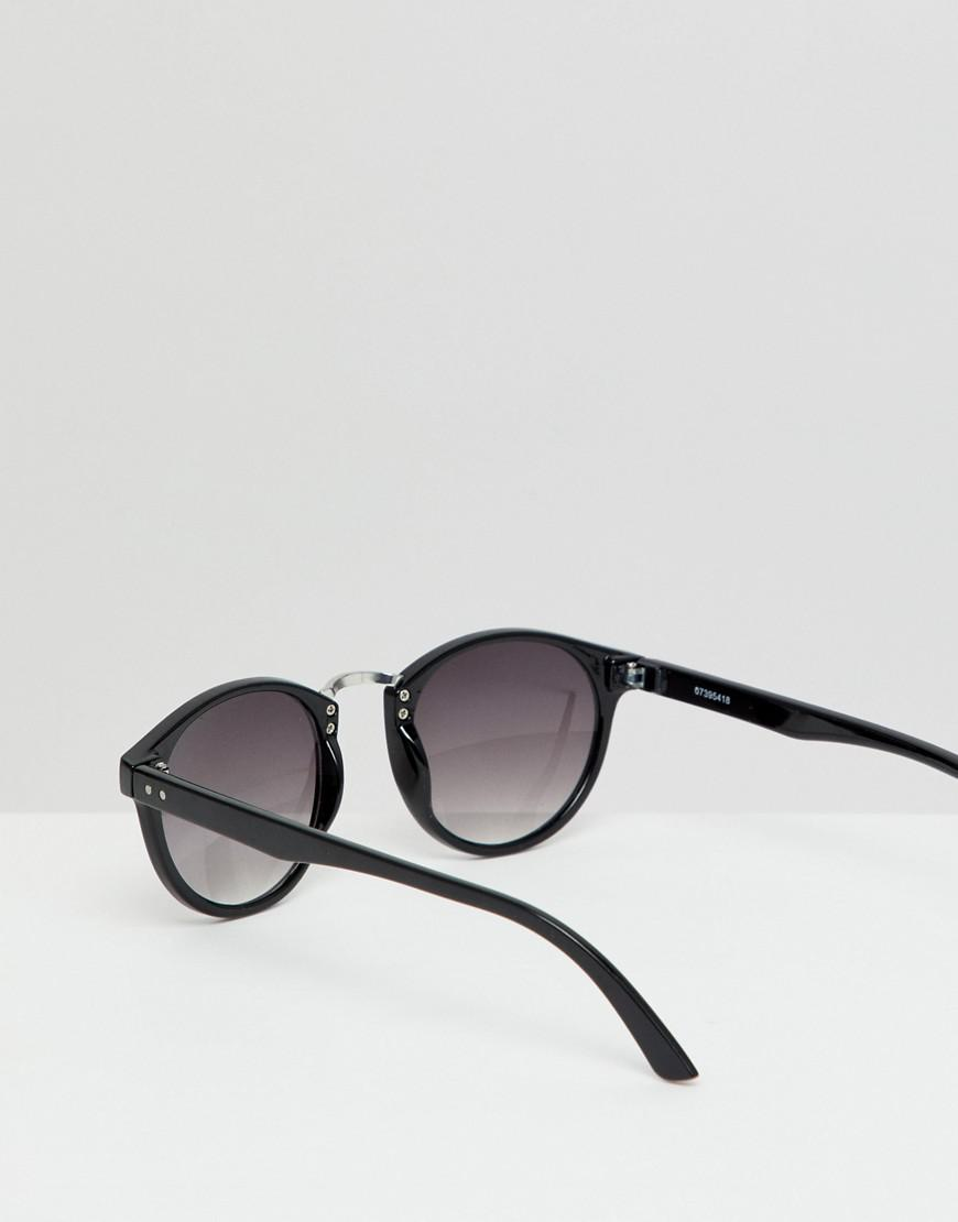 237ffc983a Lyst - ASOS Round Sunglasses 2pk In Black With Smoke Lens   Rose Gold Metal  With Silver Flash Lens Save for Men