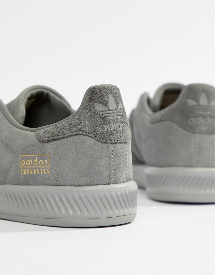7b376ad083dcf Lyst - adidas Originals Superstar Bounce Sneakers in Gray for Men