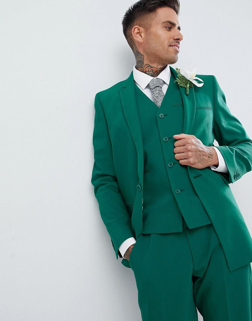 Lyst - Asos Design Wedding Skinny Suit Jacket With Square Hem In ...