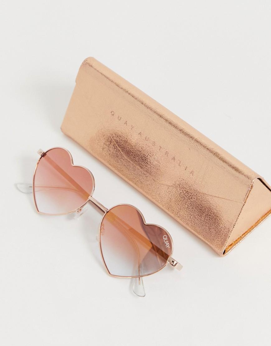 3b4f895d5091d Quay Heart Breaker Sunglasses In Rose Gold in Pink for Men - Lyst