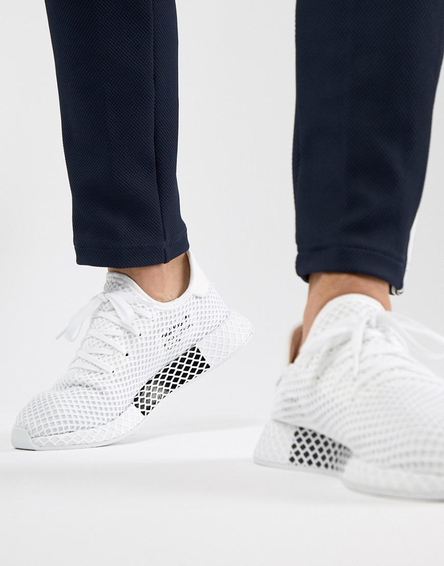 adidas Originals Deerupt Runner Sneakers In White Cq2625 in White ... 719b9bf029624