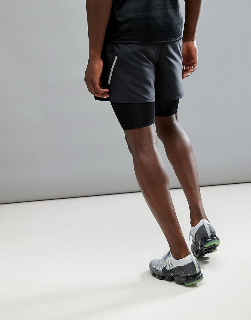 9be1ab2e0fba Nike Flex Distance 5 Inch 2-in-1 Shorts In Black 904456-010 in Black ...