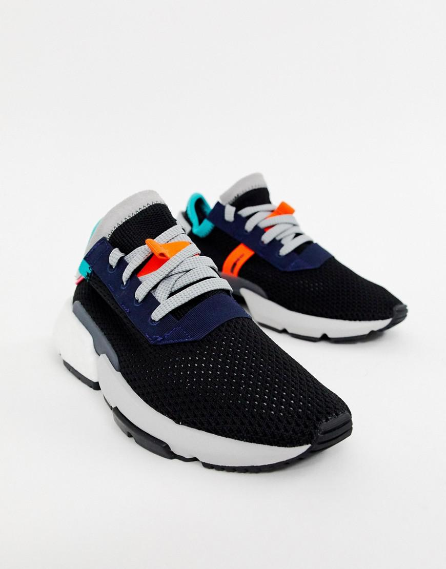 best service df1ae 4a58e adidas Originals Pod-s3.1 Sneakers In Black Multi in Black - Lyst