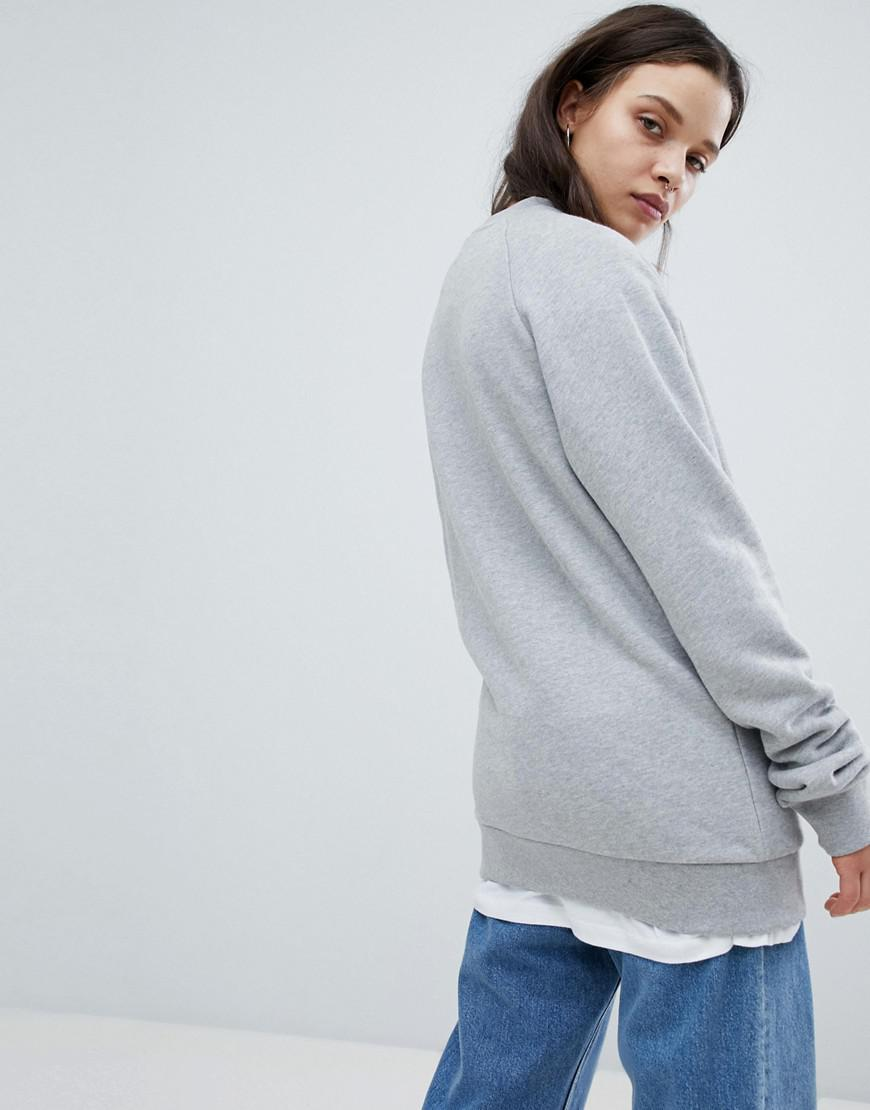6c1f2dfbab5b Lyst - adidas Originals Trefoil Crew Neck Sweatshirt In Grey in Gray - Save  35%
