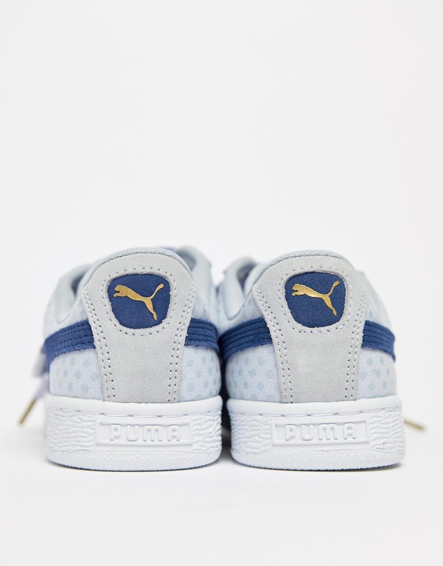 bd8bca04b66 Lyst - PUMA Basket Heart Denim Sneaker In Blue in Blue