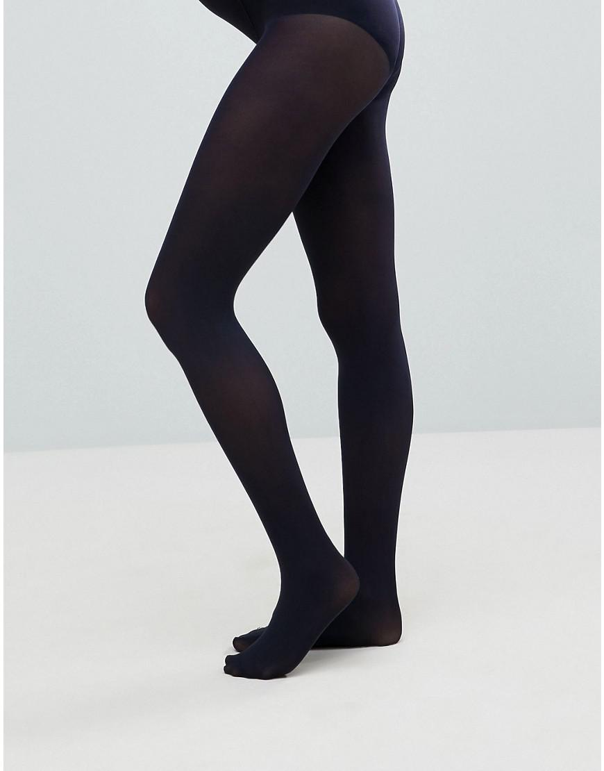 eef743d31 Lyst - ASOS New Improved Fit 80 Denier Navy Tights in Blue