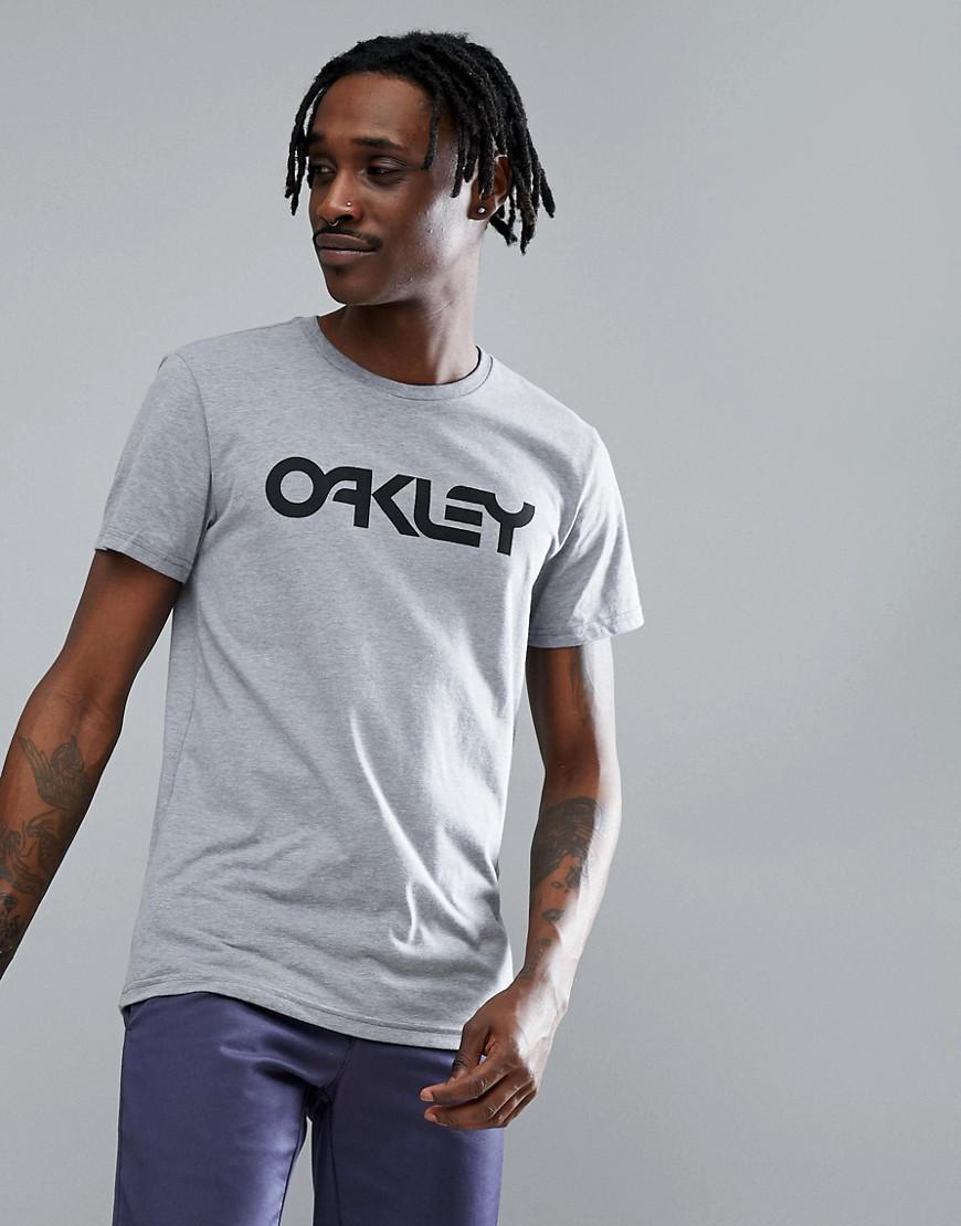 Lyst - Oakley 50-mark Ii Slim T-shirt Large Front Logo In Grey Marl ... 33652ddce9f8