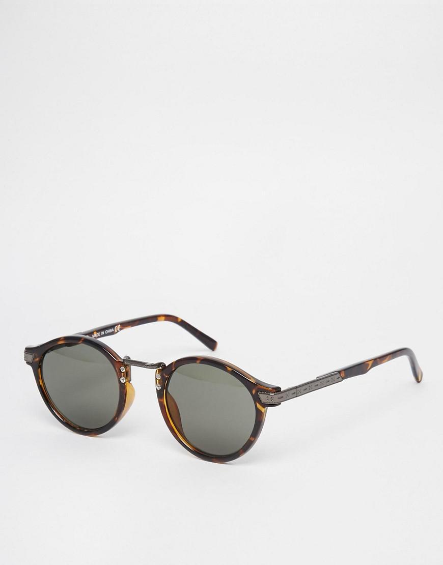 b1657e206b3 Lyst - ASOS Vintage Round Lens Sunglasses in Brown for Men