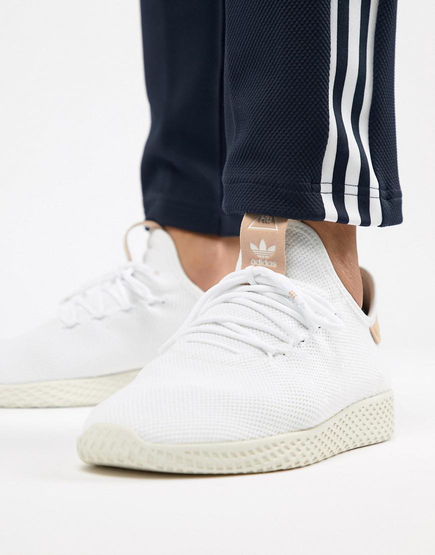 767da285585 adidas Originals. Men s Pharrell Williams Tennis Hu Sneakers In White Cq2169