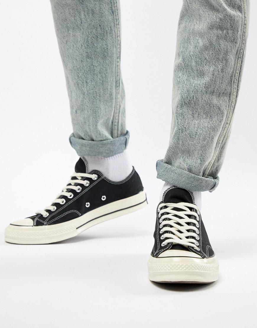 bbbf24d37b9 Lyst - Converse Chuck 70 Ox Sneakers In Black in Black for Men
