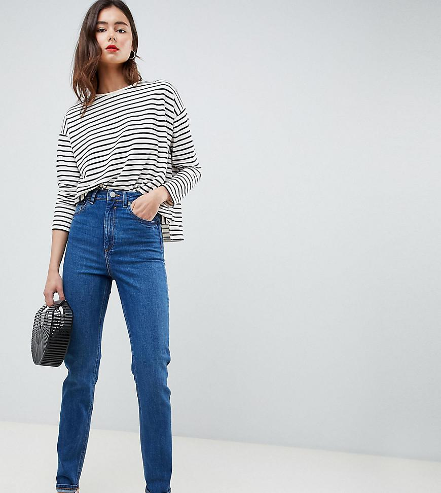 d1f9240bf Lyst - ASOS Asos Design Tall Farleigh High Waist Slim Mom Jeans In ...