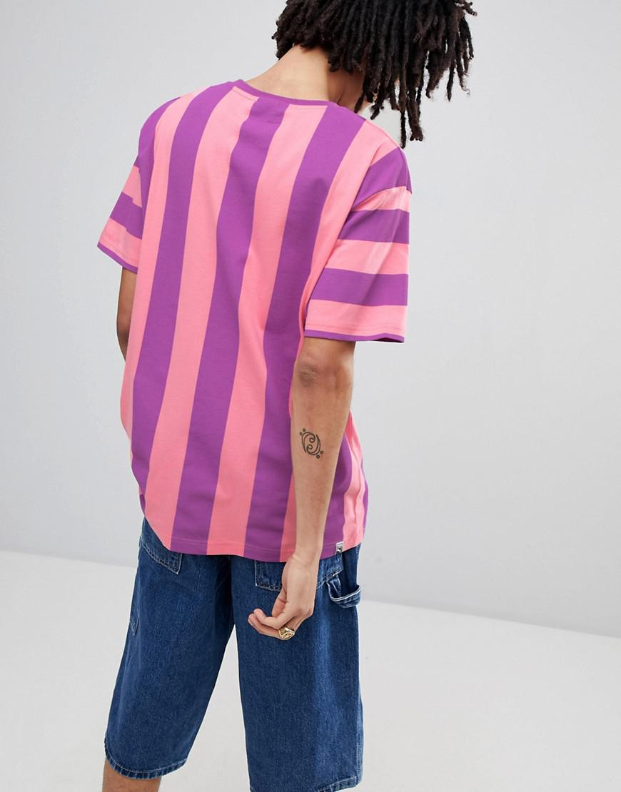 cff133f63fe PUMA Vertical Stripe T-shirt In Pink Exclusive To Asos in Pink for ...