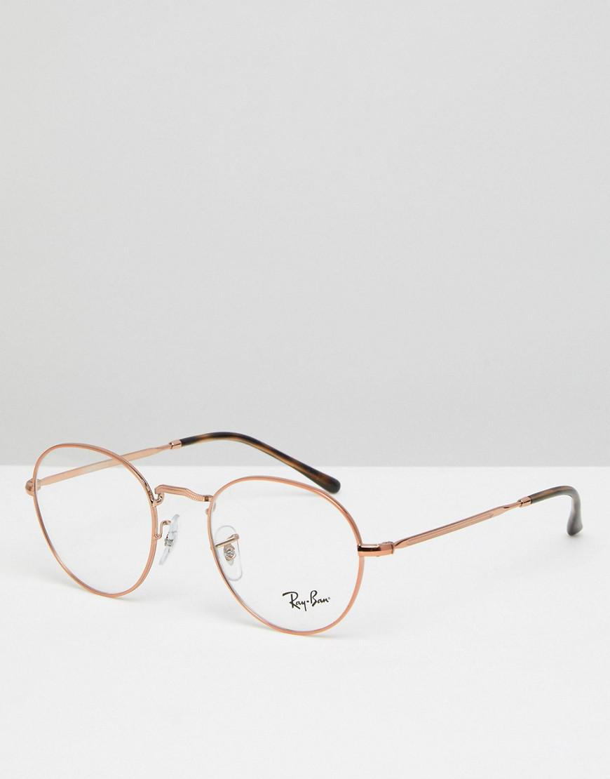 lunette ray ban ronde rose gold