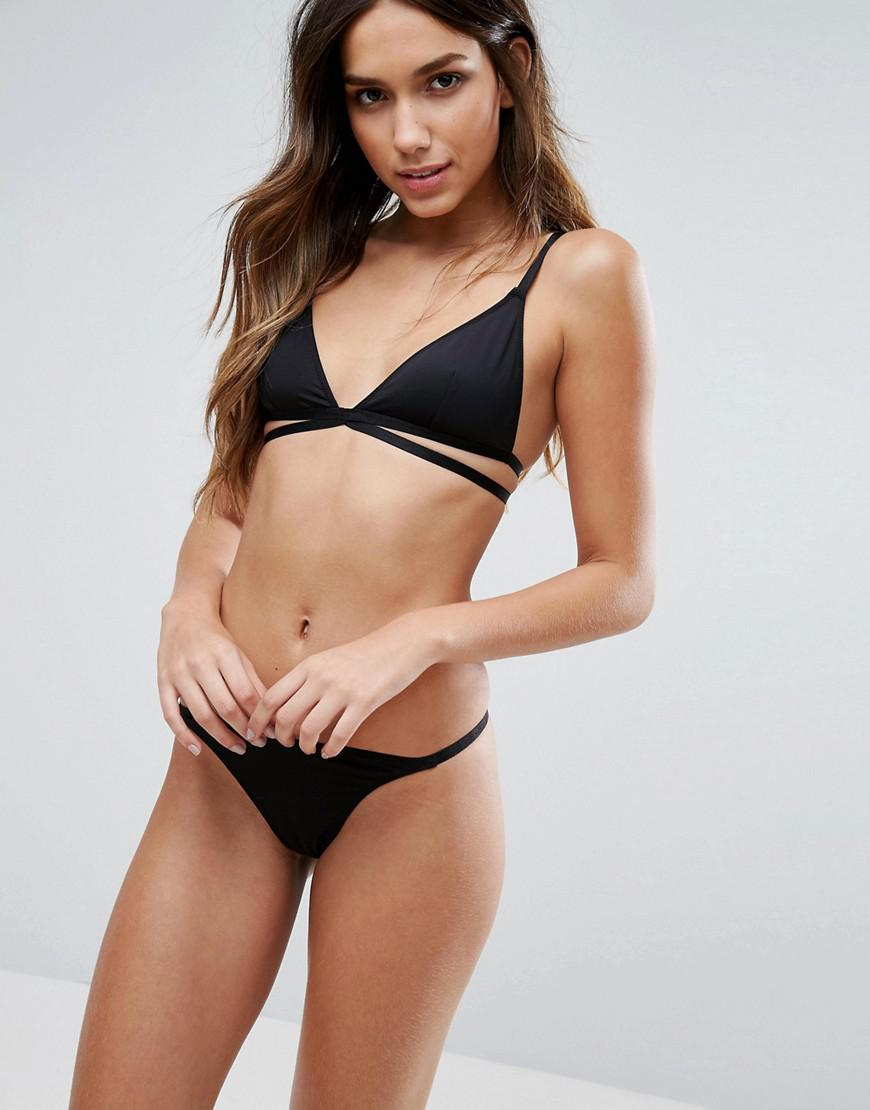 Cheapest Wide Range Of Sale Online Basic Microfibre Mix & Match Strappy Triangle Bra - Black Asos Clearance Shopping Online XwmXtaM8