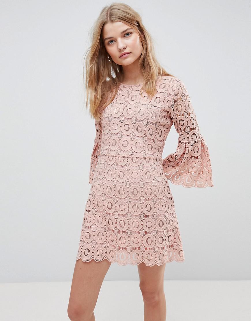 e53c40e4b0 Lyst - Urban Bliss Winnie Crochet Dress in Pink