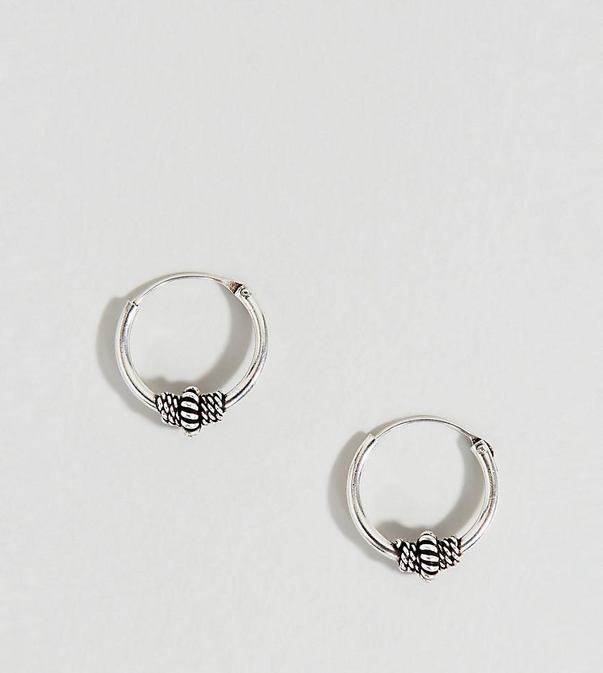Lyst - Kingsley Ryan Sterling Silver 10mm Wire Wrapped Hoop Earring ...