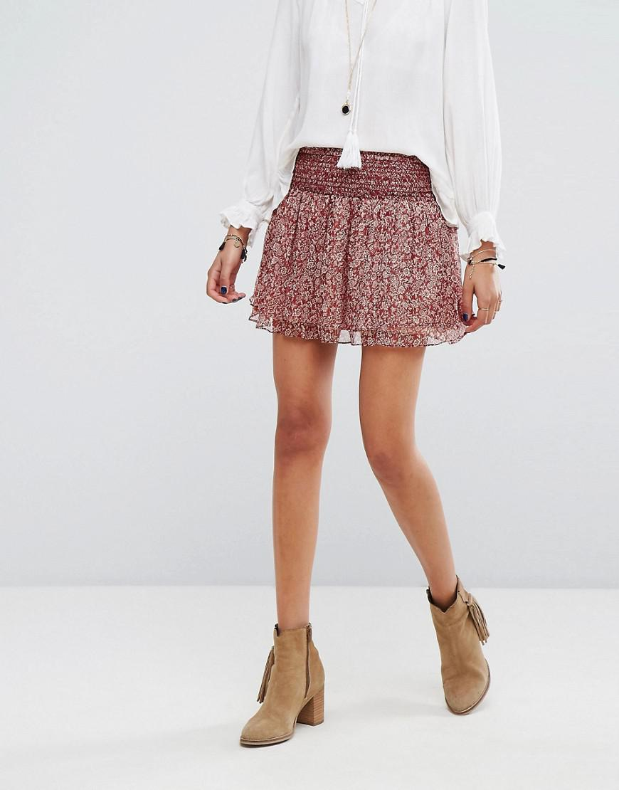 752f78d0b5ec Lyst - Vanessa Bruno Athé Vanessa Bruno Athe Holly Skirt in Red