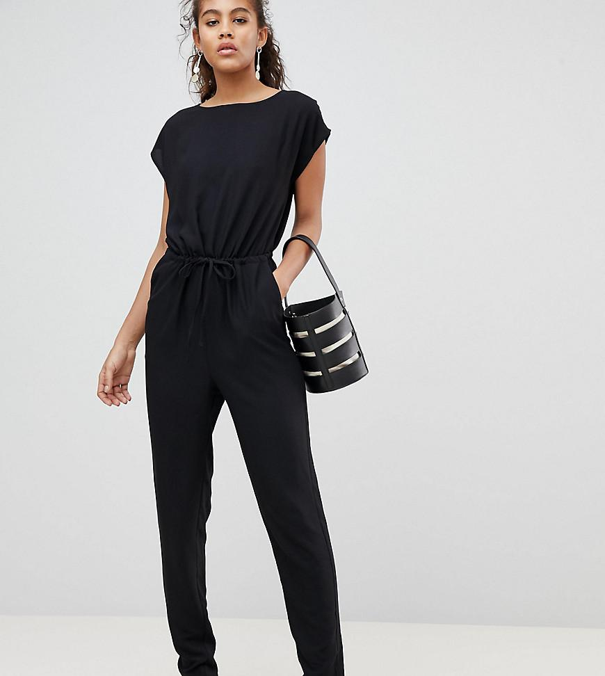 Sneakernews Cheap Sale Really Cinch Waist Jumpsuit - Black Y.A.S Buy Cheap Shop For CvQgAr