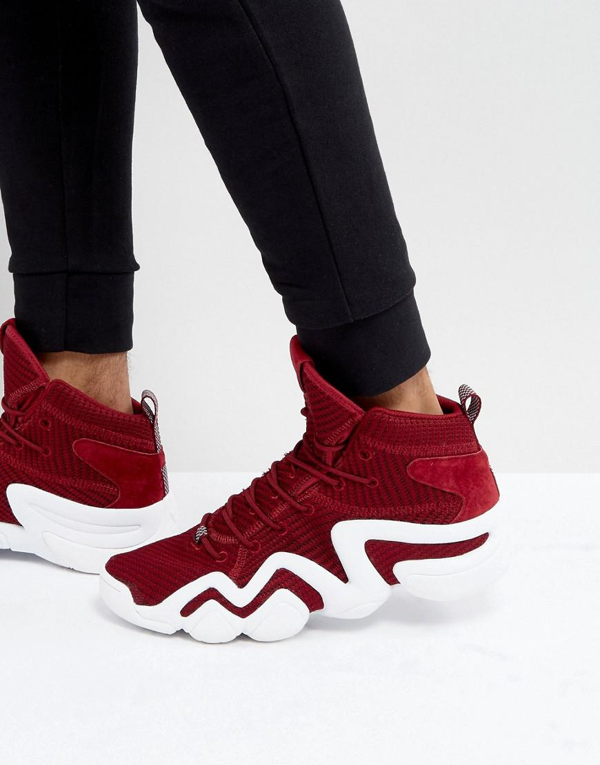 Lyst adidas originali crazy 8 primeknit formatori in rosso by4366 in