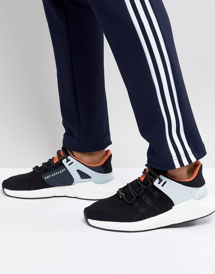 Adidas originali eqt sostegno 93 / 17 scarpe nere cq2396 in nero