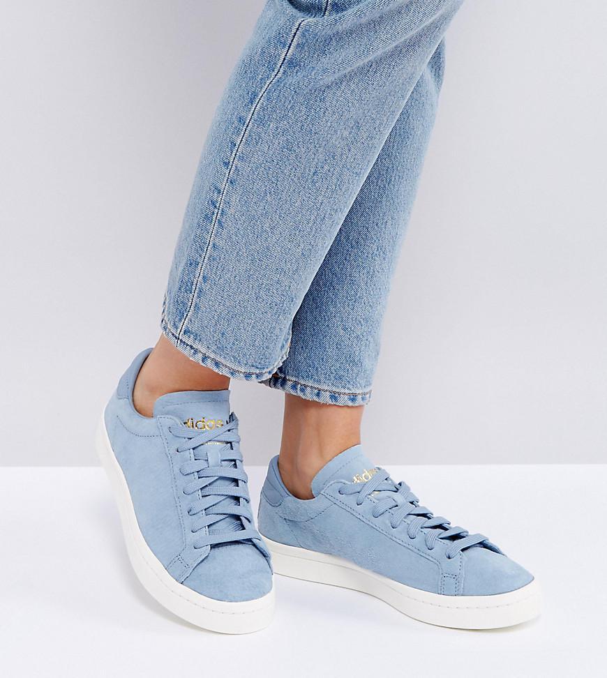 adidas Originals Originals Court Vantage Sneakers In Pale Blue in ... 5bffa490c
