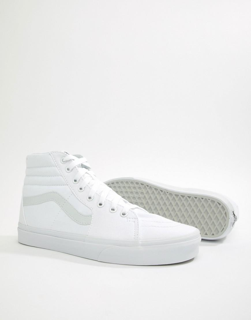 532e9b58f1 Vans Sk8-hi Trainers In White Vn000d5iw001 in White for Men - Lyst