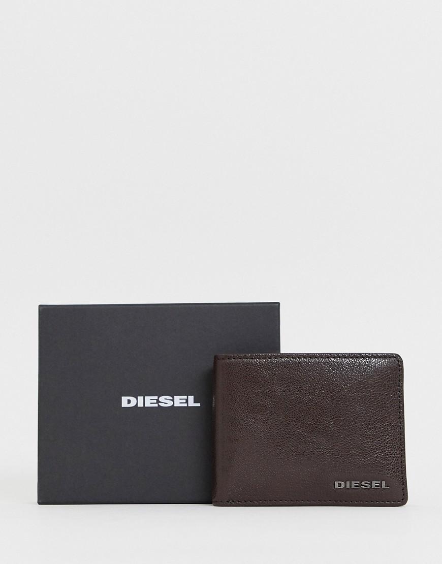 151d41139b312 Lyst - DIESEL Faltbrieftasche aus braunem Leder in Braun für Herren